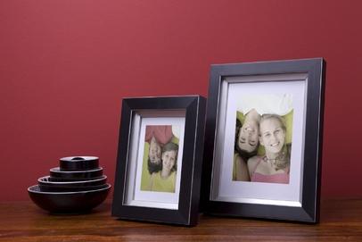 Rama do obrazów i zdjęć czarna ze srebrnym zagłębieniem Regina AD