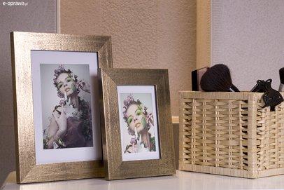 Rama do obrazów i zdjęć ciemnozłota Korsyka BA