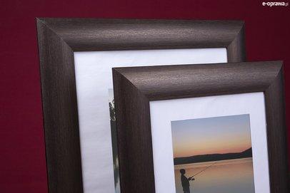 Rama do obrazów i zdjęć brązowo-pozłacana obła Elba DA