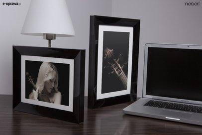 Rama do obrazów i zdjęć aluminiowa czarny połysk ALU 225-016