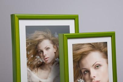 Rama do obrazów i zdjęć zielona aluminiowa ALU 270-207