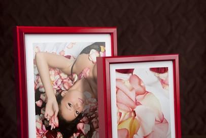 Rama do obrazów i zdjęć aluminiowa czerwona ALU 270-210
