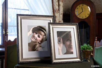 Rama do obrazów i zdjęć srebrna z dodatkiem patyny Eliza AB