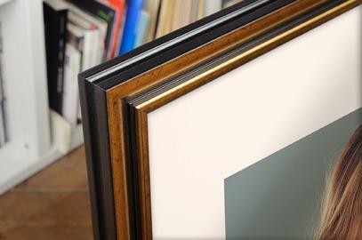 Rama do obrazów i zdjęć złota przeplatana czarnym Boston AA