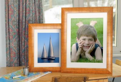 Rama do obrazów i zdjęć ceglastopomarańczona z przecierkami Genua AA