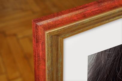 Rama do obrazów i zdjęć złota przetarta turkusem Denver AA