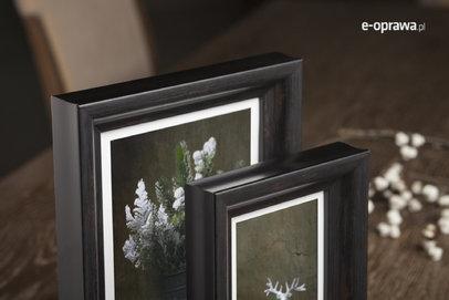 Rama do obrazów i zdjęć czarno-brązowa wgłębiona Kolima AA