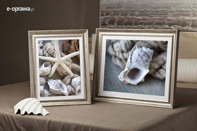 Rama do obrazów i zdjęć srebrno-perłowa wgłębiona Ebro AD