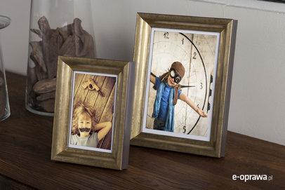 Rama do obrazów i zdjęć złota wykrojona  Kolima AE