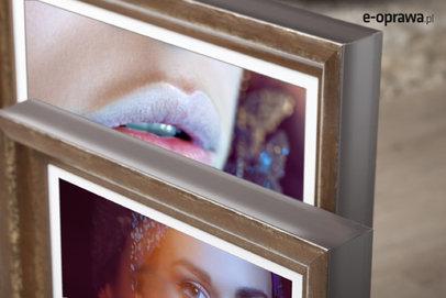 Rama do obrazów i zdjęć miedziana wytarta Timor AD
