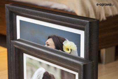 Rama do obrazów i zdjęć brązowa obła Timor AA
