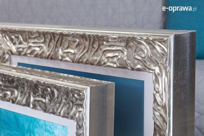 Rama do obrazów i zdjęć srebrna z falowanym ornamentem Larisa AA