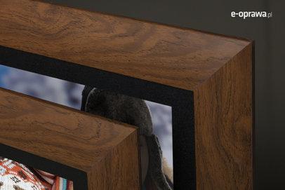 Rama do obrazów i zdjęć rozjaśniony orzech Genua AF