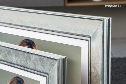 Rama do obrazów i zdjęć srebrny marmur  Beringa AC