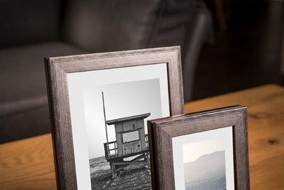Rama do obrazów i zdjęć srebrno-brązowa przetarta czarnym Krym AB