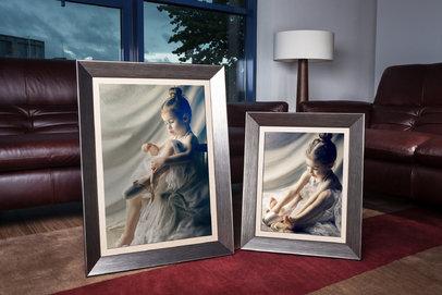 Rama do obrazów i zdjęć srebrno-grafitowa zagłębiona Toronto AA