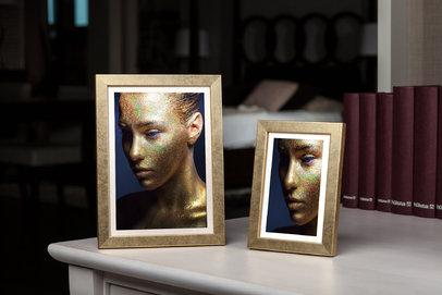 Rama do obrazów i zdjęć złota niezdobiona Paula AB