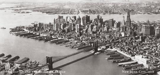 Manhattan, Brooklyn Bridge 1928 r.