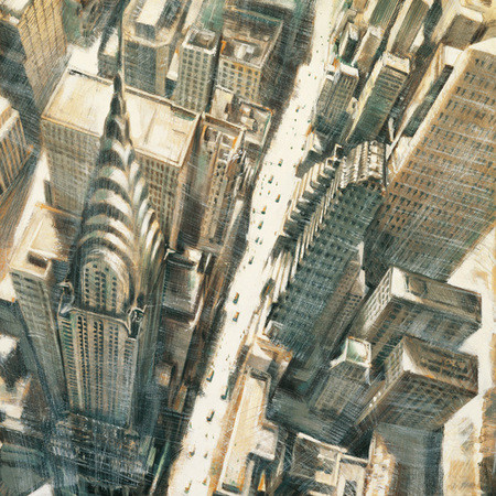 Chrysler Building z lotu ptaka