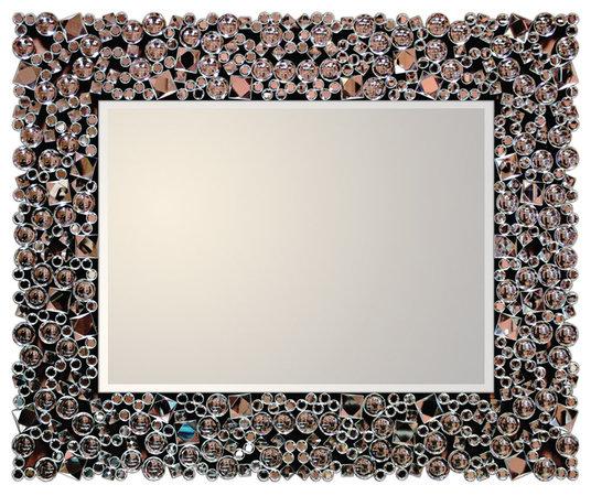 Lustro w ramie z oszlifowanych kryształków Laguna 18