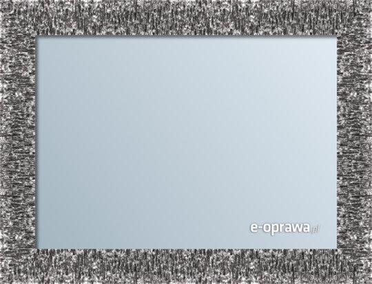 Lustro w ramie czarnej ze srebrnym refleksem Bella AD