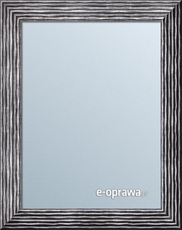 Lustro srebrne w czarnej przetartej ramie Isabela AB