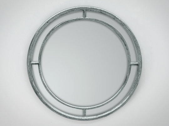 Lustro w ramie okrągłej z paciorkami Laguna 118