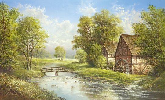 Młyn nad rzeką