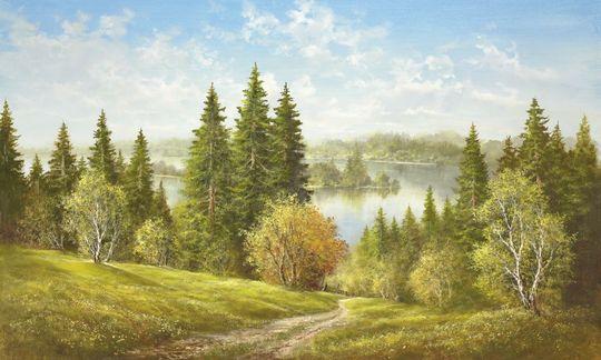 Jezioro w pobliżu Cernivci