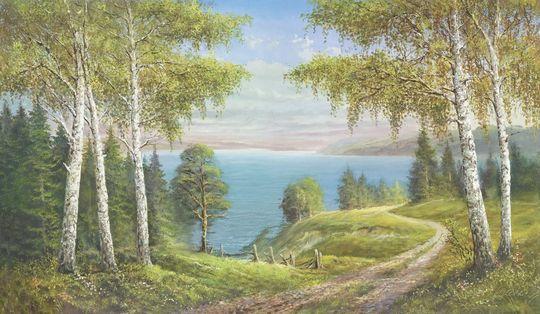 Brzozy nad jeziorem I