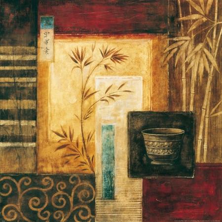 Martwa natura z wazą i bambusem