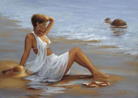 Kobieta na plaży II