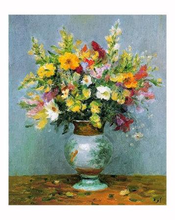 Martwa natura z kwiatami w wazonie