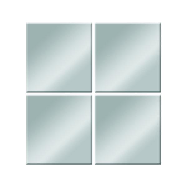 Płytki lustrzane cztery kwadraciki I