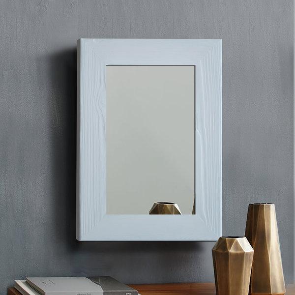 Lustro w białej ramie sosnowej Handmade 2