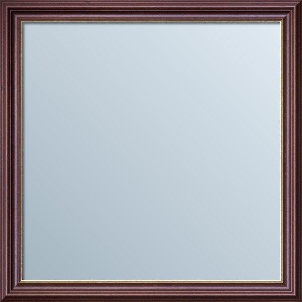 Lustro kwadratowe w ramie brązowej LKT036