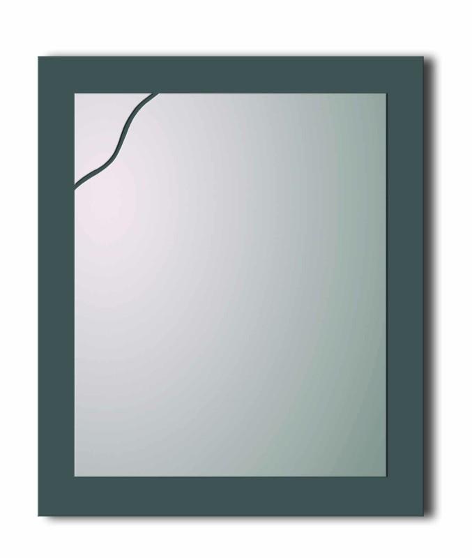 Lustro prostokątne z falą SL022B