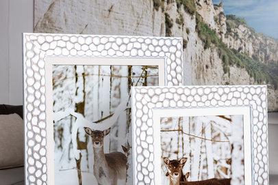 Rama biała a`la plaster miodu Nikozja AA