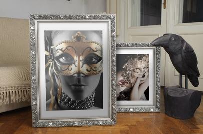 Rama srebrna w makówkę Akron AA